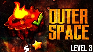 """[FIRE GAUNTLET] """"OUTERSPACE"""" 100% Complete - LEVEL 3 - GEOMETRY DASH 2.1"""