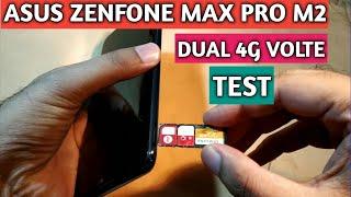 Asus Zenfone Max Pro M2 Dual 4G Volte Test  