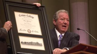 Honorary Doctorate Presentation for Olton Phillips