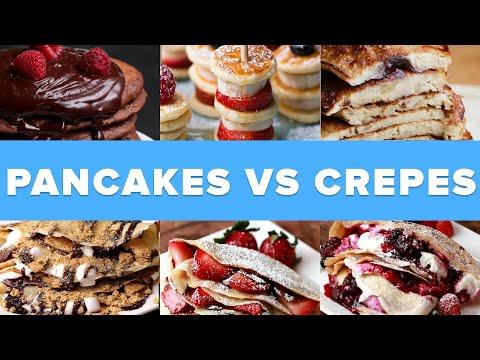 Pancakes Vs. Crepes