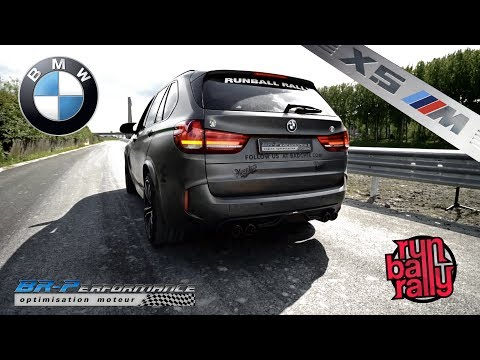 BMW F85 X5M exhaust Akrapovic & Rear Carbon Fiber diffuser By BR-Performance