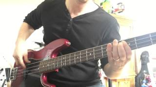 Wasted years bass cover