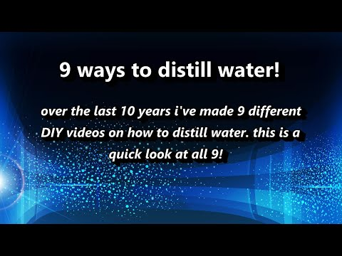 9 ways to Distill Water at Home! - My 9 DIY water distillers (over 10 years) w/links to each! Ez DIY