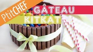 Recette Gâteau Kit Kat et M&M's, Ptitchef.com, Pas à pas, Stop Motion
