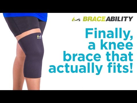 Can't Find a Knee Brace that's Big Enough? Try BraceAbility's Plus Size Knee Sleeve