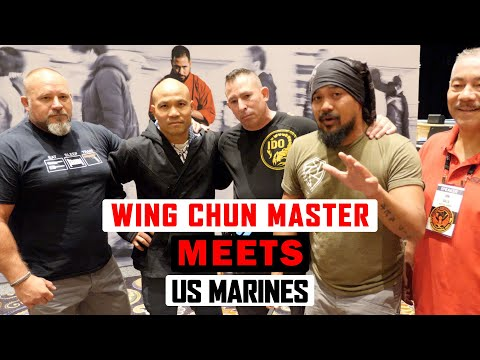 Wing Chun Master Meets US Marines and Cop ✅  Lesson 1 | Master Wong