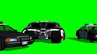 Batman Tumbler crashes into Police Car - greenscreen effects