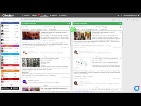 eClincher Content Curation Feeds Tutorial