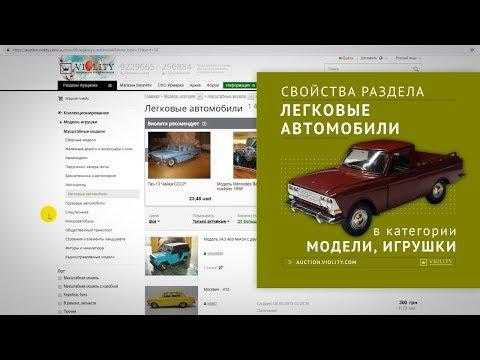 Свойства раздела: легковые автомобили. Аукцион Виолити 0+ photo