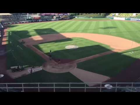 Albuquerque Isotopes pregame infield work