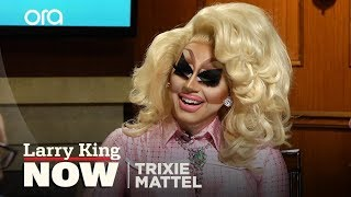 Trixie Mattel explains glitter to Larry King