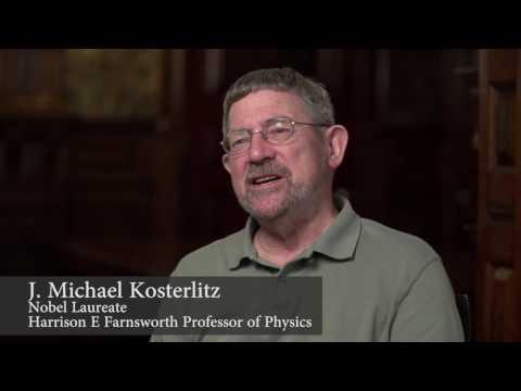 Brown congratulates Professor Michael Kosterlitz, Nobel Laureate