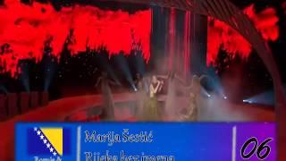My Eurovision 2000-2013 Top: Bosnia & Herzegovina