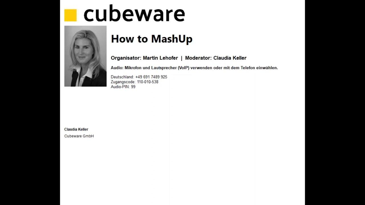 Cubeware - How to MashUp