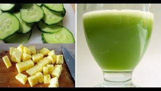 Recette : Ce jus au citron-concombre est le plus efficace pour brûler la graisse abdominale