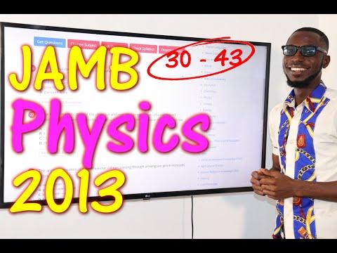 JAMB CBT Physics 2013 Past Questions 30 - 43