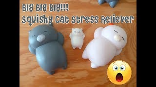 JUMBO squishy Cat stress reliever Neko Kawaii Mochi