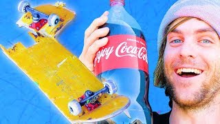 WE SOAKED A SKATEBOARD IN COCA COLA FOR 24 HOURS! | SKATE EXPERIMENTS  EP. 7