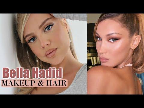 Bella Hadid Inspired Makeup & Hair | Foxy Eyes Makeup Tutorial | Elanna Pecherle 2020