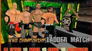 WWE Championship Ladder Match at Money in the Bank - Wrestling Revolution 3D width=