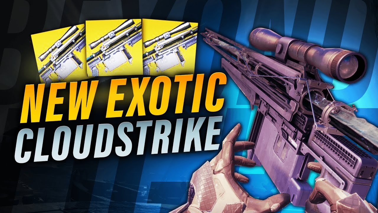 ZkMushroom - New Cloudstrike Exotic Sniper is CRAZY in PVP (Beyond Light)