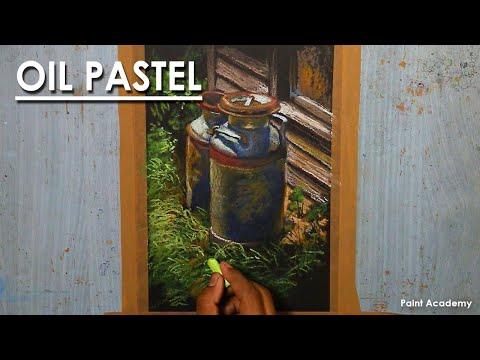 Oil Pastel Still Life Drawing : Milk Cane