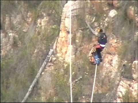 TARMO TULIT and the Highest Bungee Jump in the World (216m, Bloukrans, South Africa)