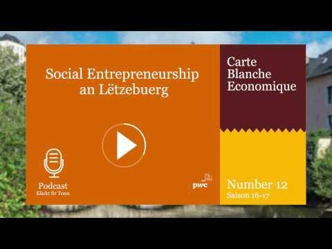 Social Entrepreneurship an Lëtzebuerg -  Carte blanche Season 2016-17