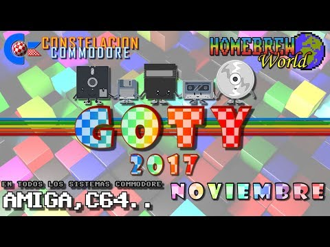 GOTY 2017 CC Noviembre Juegos Amiga, C64, Plus4, VIC20.. | Homebrew World #0015