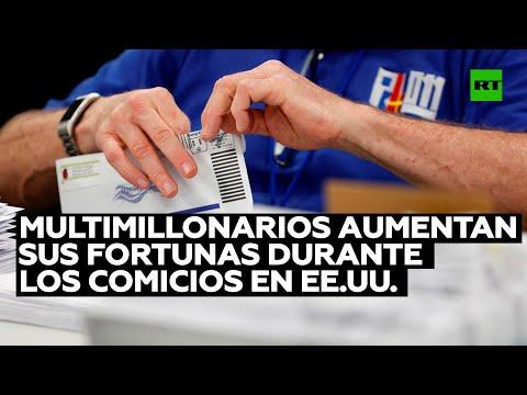 Bonanza poselectoral: multimillonarios aumentan sus fortunas durante los comicios en EE.UU.