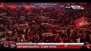 Hino do Sport Lisboa e Benfica no Marquês de Pombal.