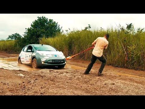 Przejechał całą Afrykę elektrycznym samochodem