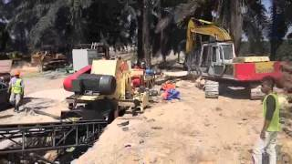 Wood chipper machine working video on client country