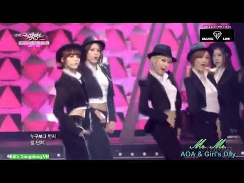 Download Video [Special Stage] AOA Cover Gentleman (with Teen Top) And Mr.Mr (with G's Day)