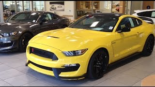 2017 Ford Mustang Shelby GT350R in Triple Yellow.