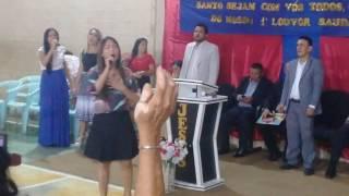 Jomhara canta Tocou-me no louvor Saudade em Manaus. 18/02/2017