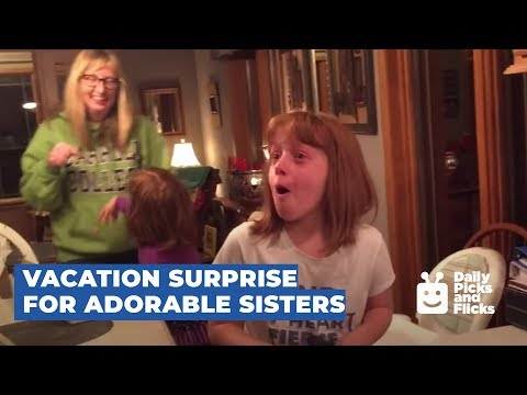 Vacation Surprise for Adorable Sisters
