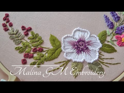 Garden Embroidery |Bouquet of flowers |easy stitches | Floral Still Life