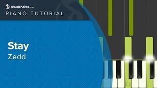 Stay - Zedd feat. Alessia Cara - Piano Tutorial (cover)
