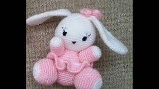 (Amigurumi ) Örgü Oyuncak Sevimli Tavşan Yapımı 1 (Crochet Amigurumi Cute Rabbit 1) width=