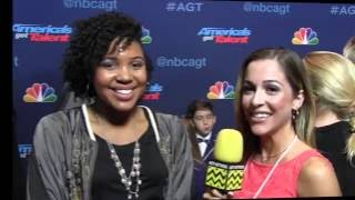 Jayna Brown at the America's Got Talent Semi-Final Carpet 2016