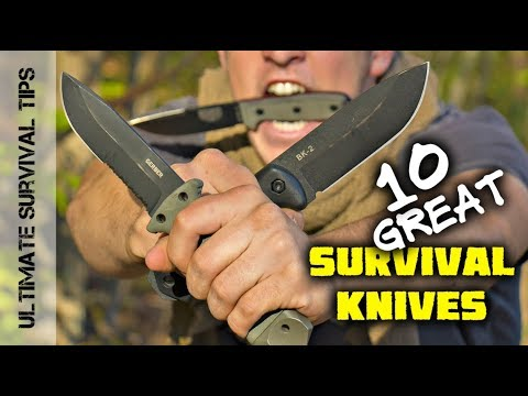 10 Sweet Survival Knives (You Need) - Mora / Gerber / ESEE / TOPS / Ka-Bar  - Best Blades