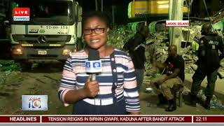 ChannelsTV Correspondent Updates From Lagos Building Collapse Scene