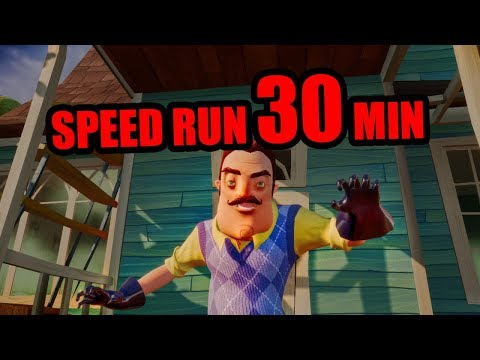 Hello Neighbor Full Game Speedrun [30 MINUTES]