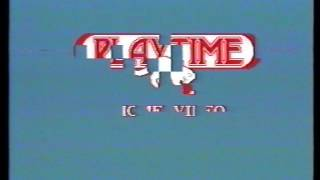 Logo vhs Playtime con avviso pirateria.