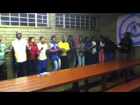 D.Kim in South Africa: Hoerskool Vorento Students Welcome