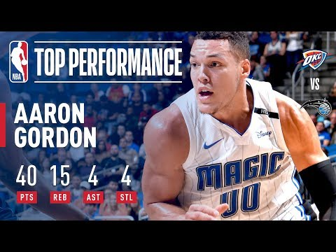 Aaron Gordon Scores 40 in Big Win vs. Thunder | November 29, 2017