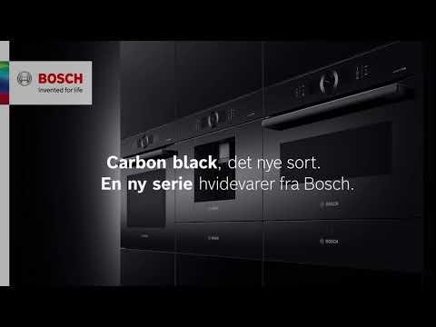 Bosch carbon black – en ny serie hvidevarer i sort.
