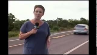 O Susto da reporter
