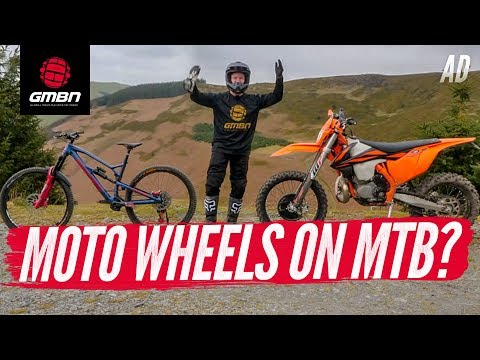 Motocross Wheels On Mountain Bikes"